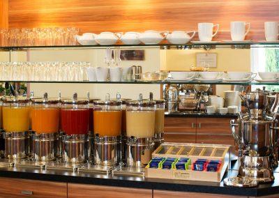 Hotel Panorama Heidelberg Fruehstuecksbuffet Saftbar