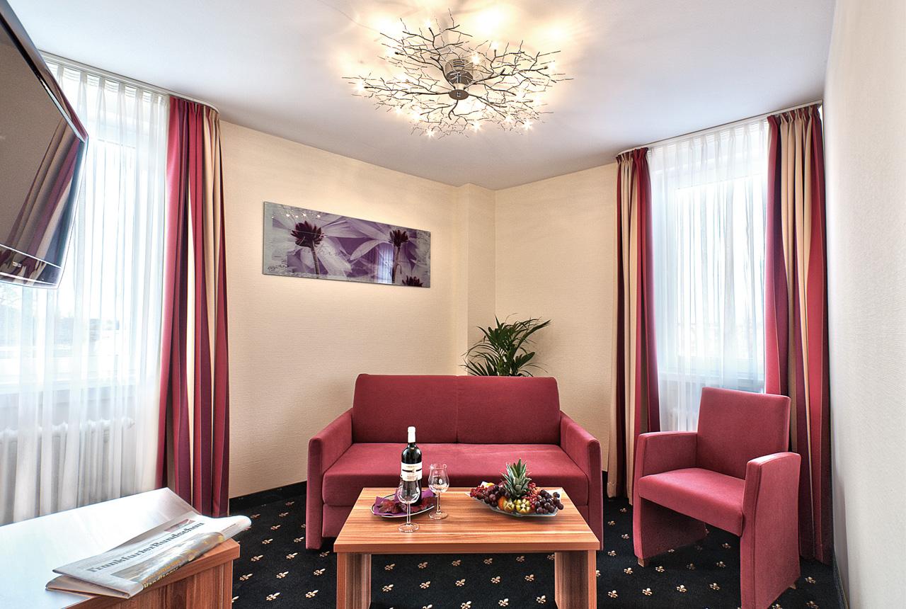 Hotel Panorama Heidelberg Junior Suite Wohnzimmer