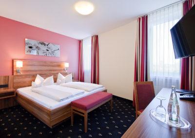 Hotel Panorama Heidelberg Junior Suite Schlafbereich